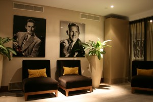 The smoking room of the Hilton Hotel in Den Haag