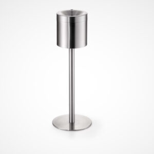 Ashtray on foot stainless steel