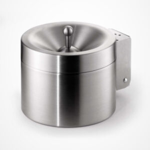 Ashtray stainless steel wallmounted